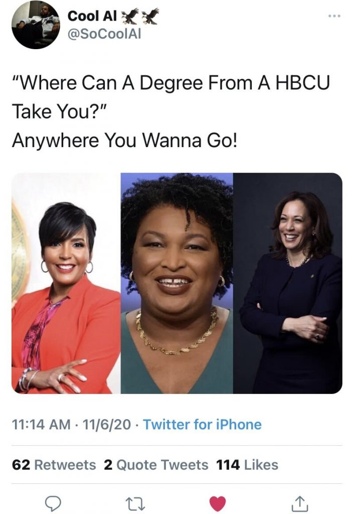 Where can I degree from A HBCU take you? Anywhere you wanna go!